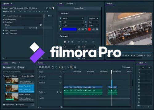 pantalla principal de FilmoraPro