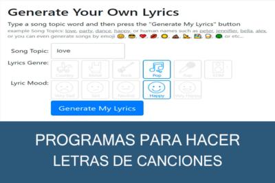 Programas para hacer letras de canciones Gratis
