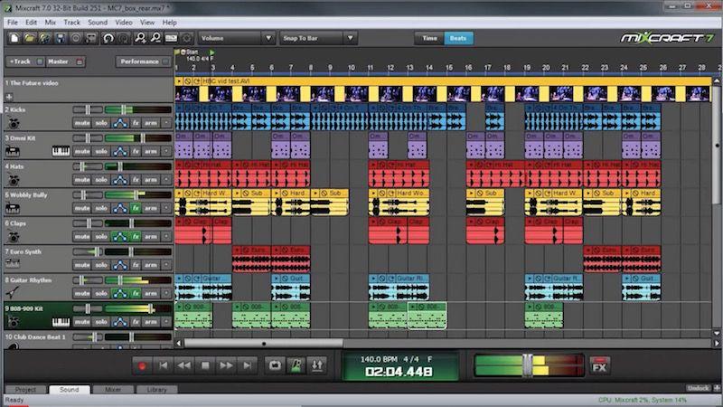 pantalla principal de Mixcraft