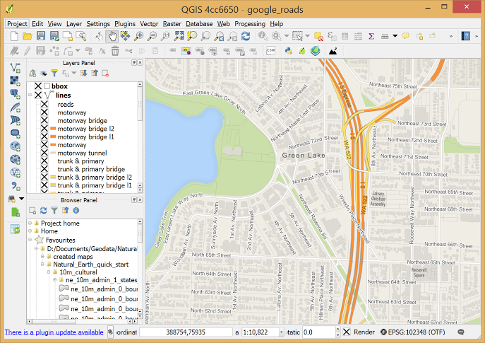 pantalla principal de QGIS